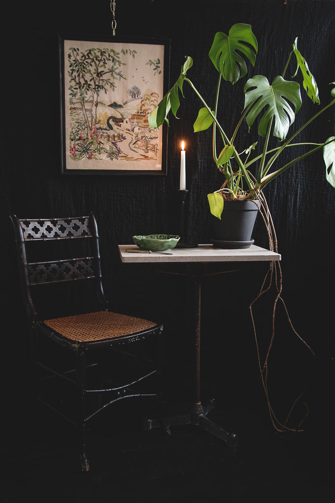 Ebonised Victorian Cane Chair. Interior designer and photography in Bristol. Cassie Nicholas Studios