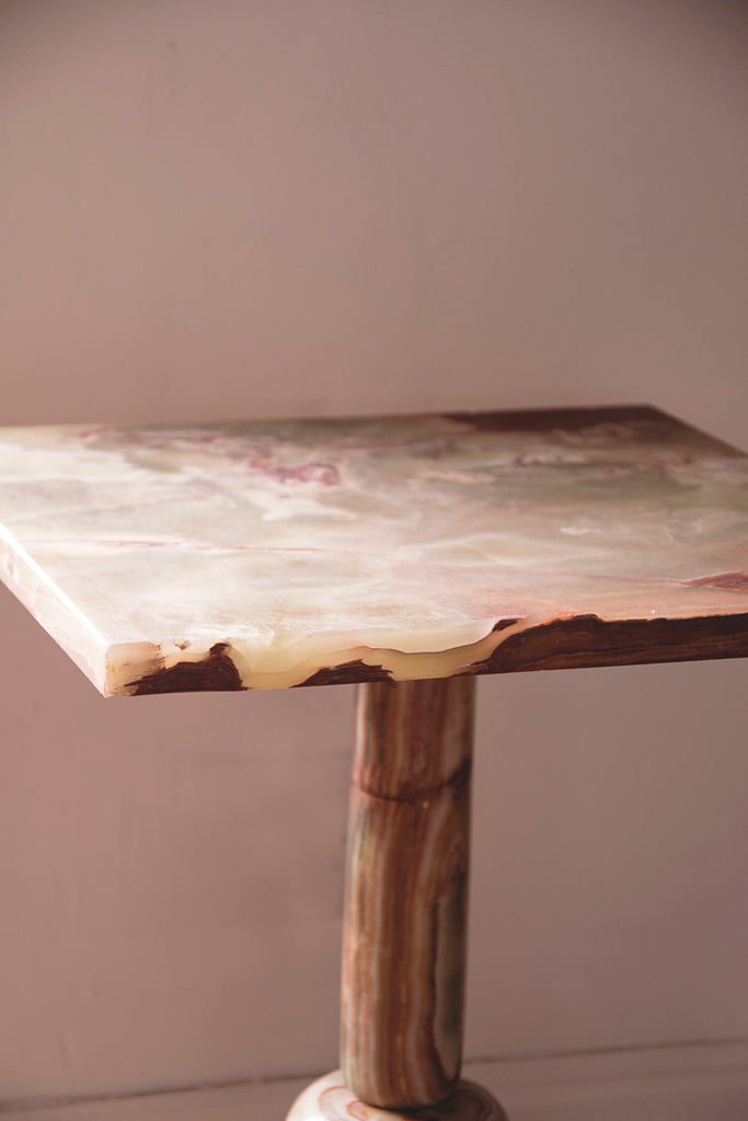 Onyx Pedestal Table