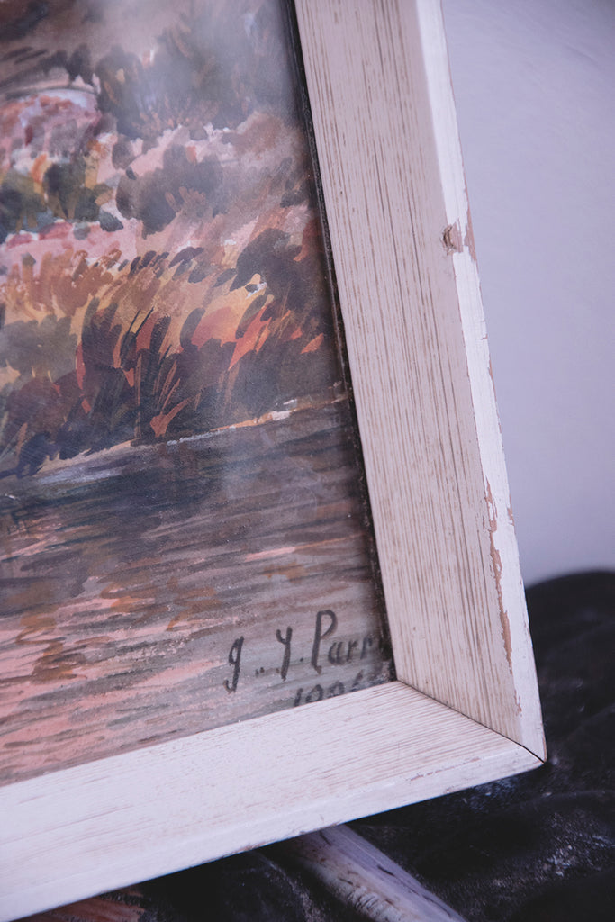 Framed Antique Landscape Watercolour