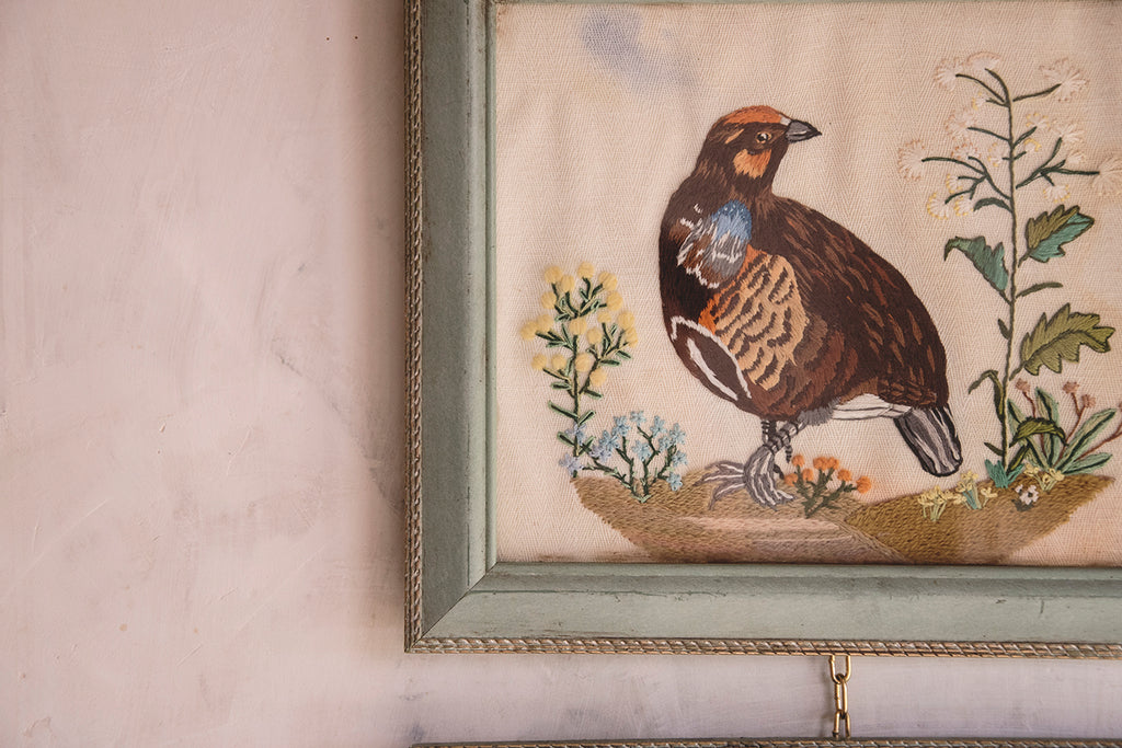 Pair of Vintage Embroideries
