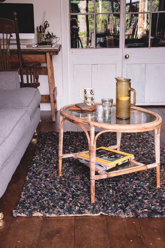 Bamboo Coffee Table and Rag Rug, Cassie Nicholas Studios. Interior Design Bristol. Dig Haushizzle