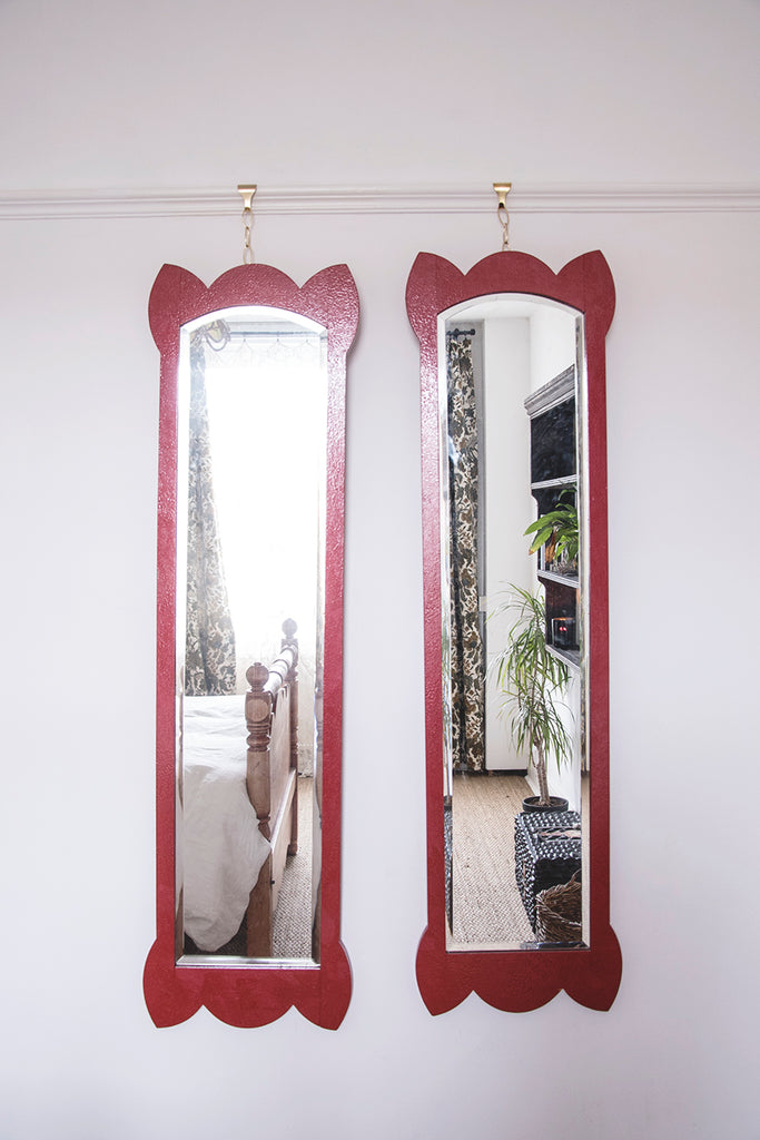 Pair of arts and crafts mirrors