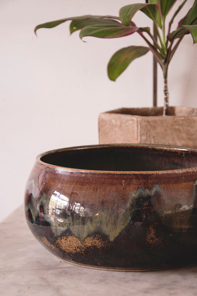 Vintage Earthenware Bowl. Antique styling and product photography
