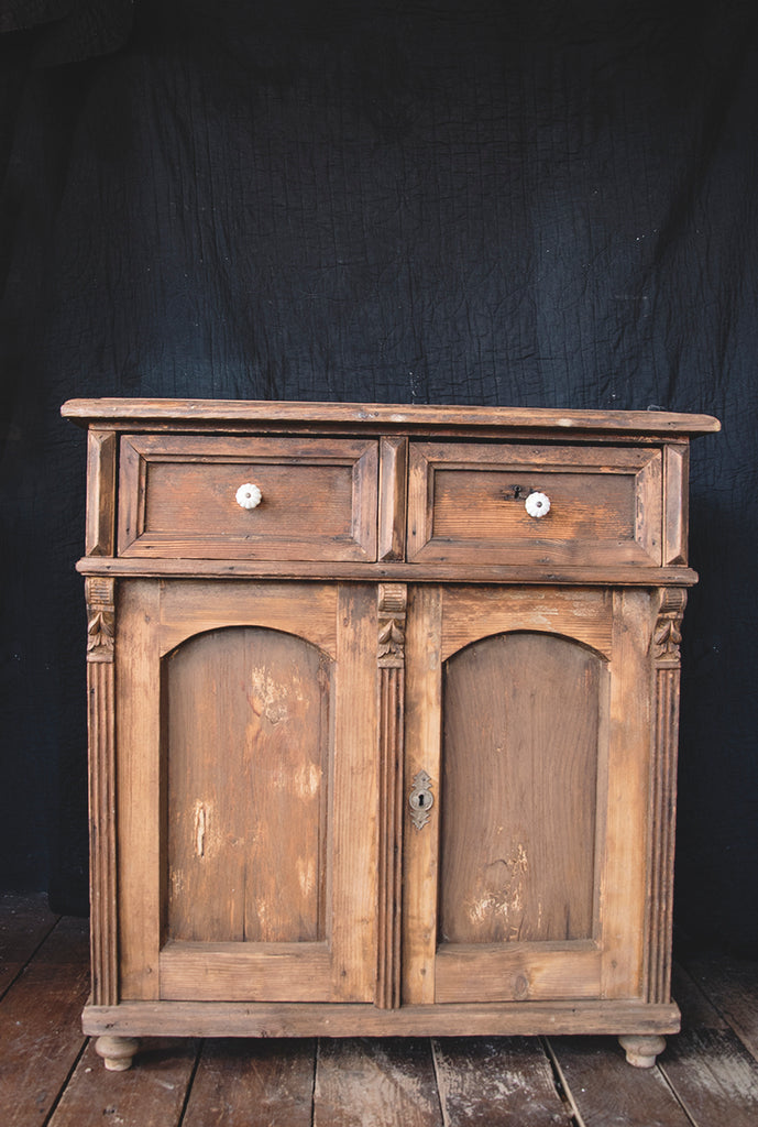 A pine side cabinet beautiful patina furniture. Bristol. Antiques