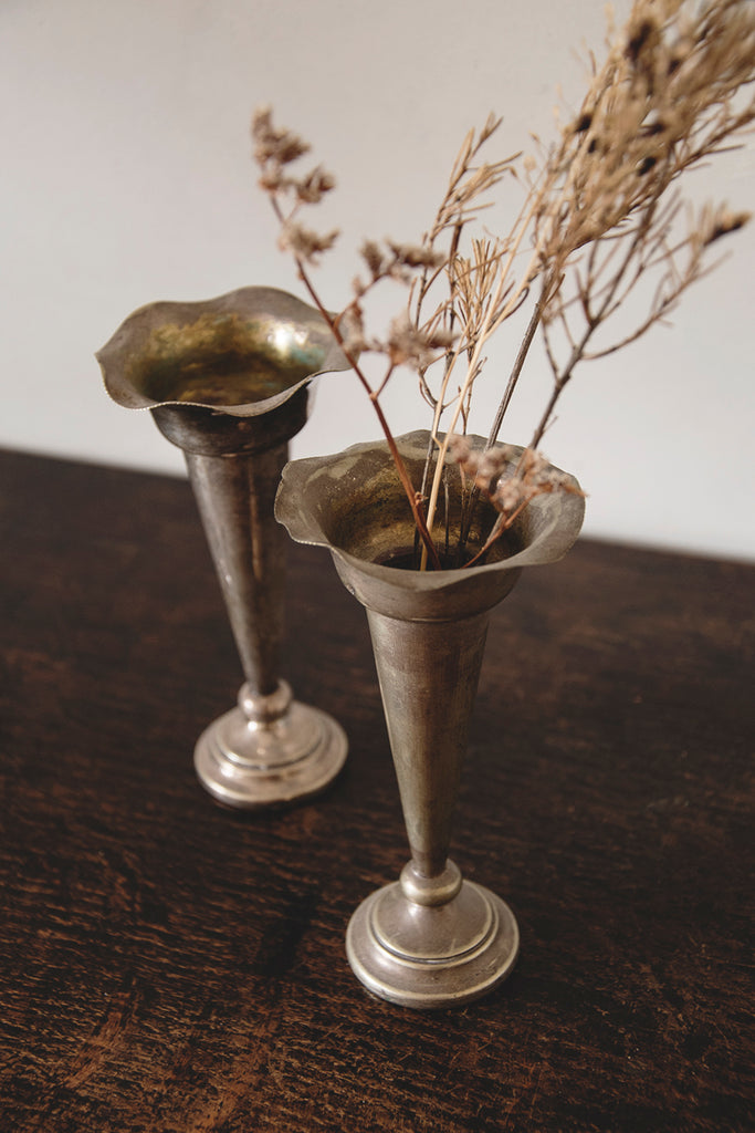 Silver Plated Stem Vases. Antique Vases Flowers. Affordable Decorative antiques bristol