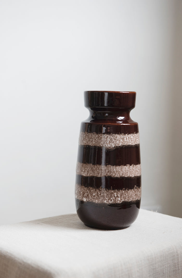 vintage brown west german vase