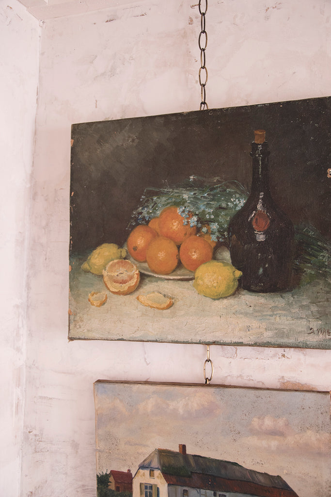 Antique Still Life Painting on Canvas - J.Maeyaert