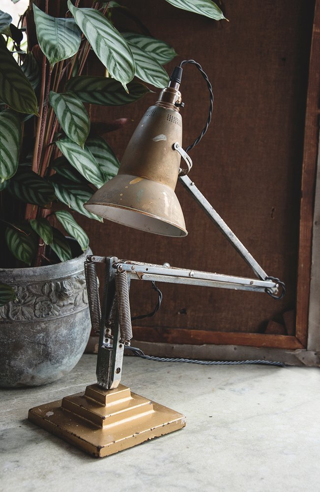 Rare Original Anglepoise Lamp Three Step. Antique Lighting. Vintage desk lamp. Dig Haushizzle Bristol
