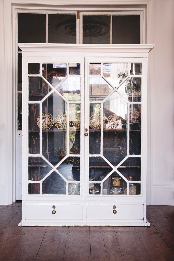 Large glass fronted Georgian Cabinet