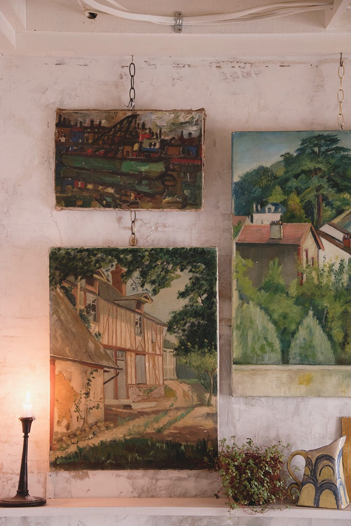 Vintage farmhouse painting on Canvas