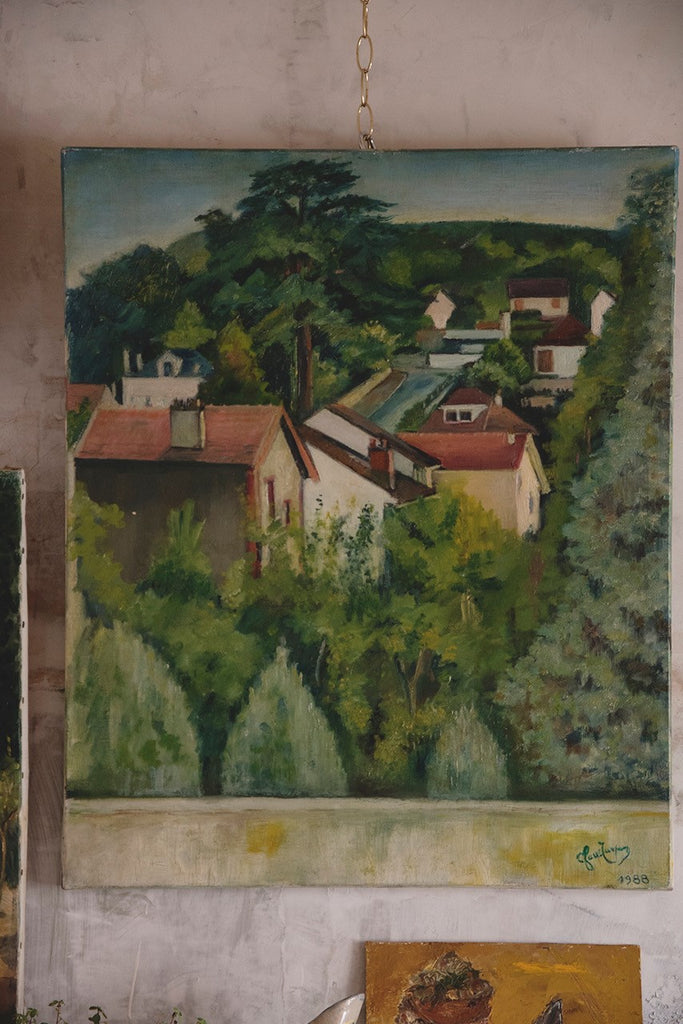 Vintage Painting - French Countryside