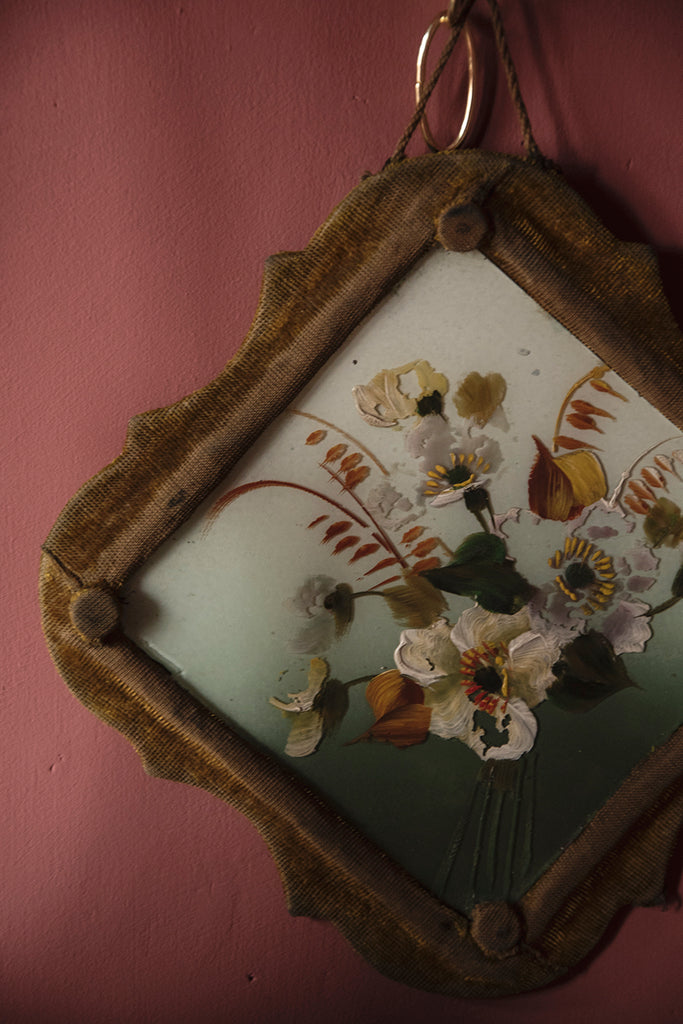 Victorian Flower Paintings on Glass