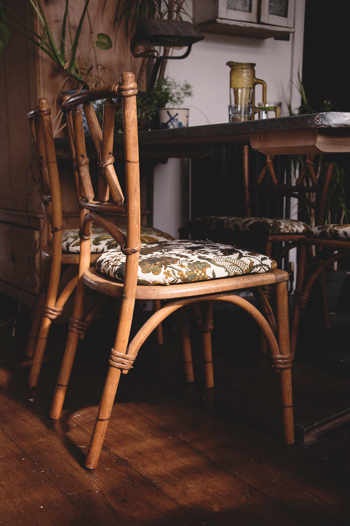 Lusty and Sons' faux bamboo dining chairs