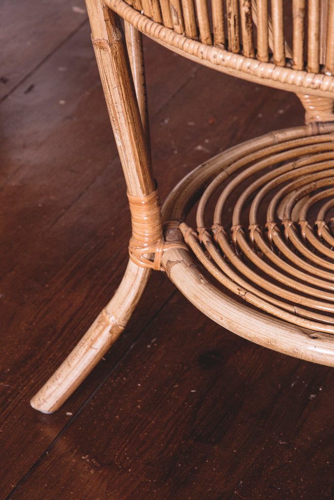 Bamboo Chair and Table Set