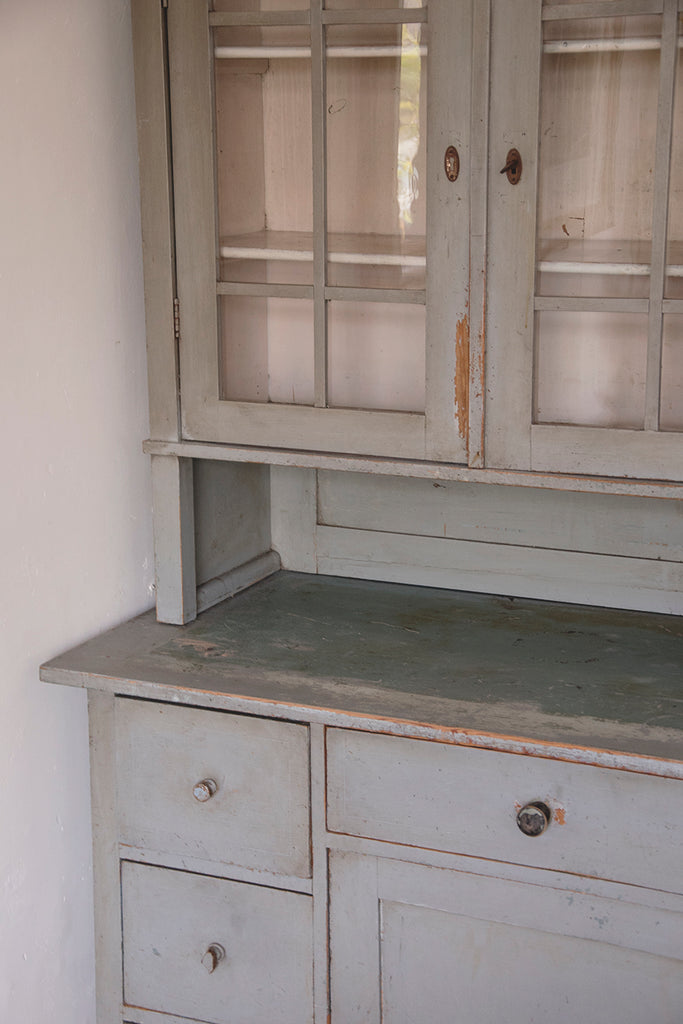 antique kitchen dresser with original paint.
