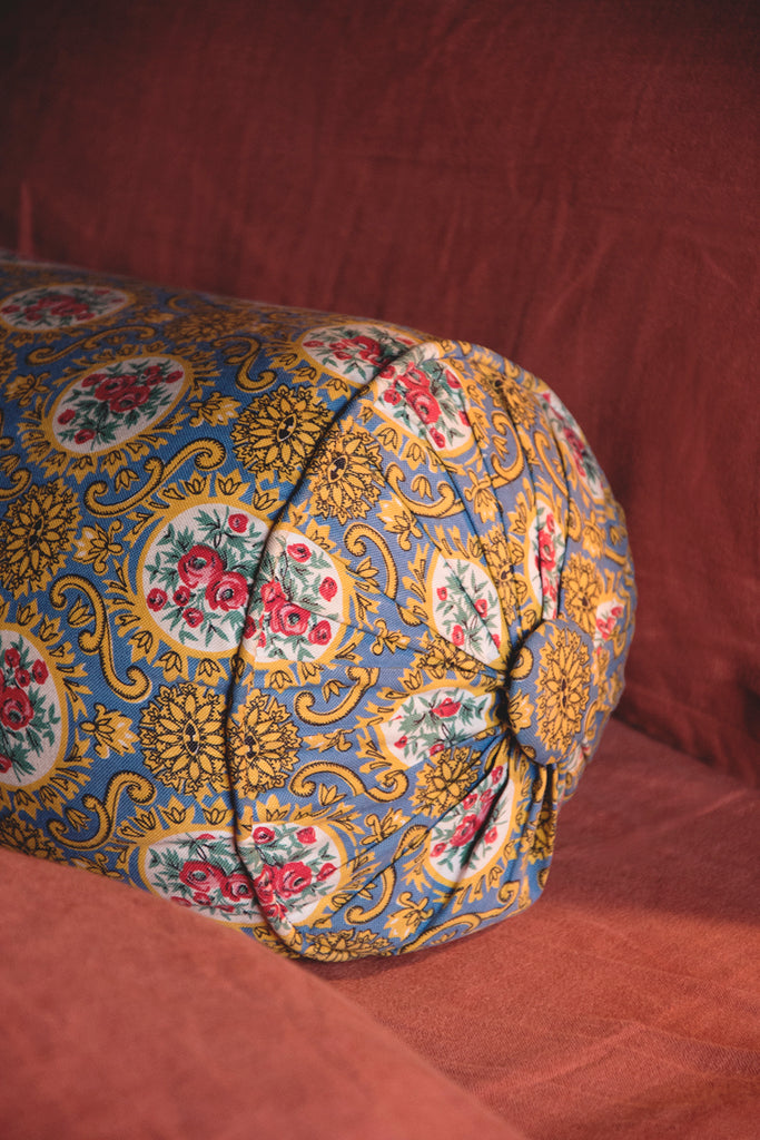Large Vintage Bolster Cushion