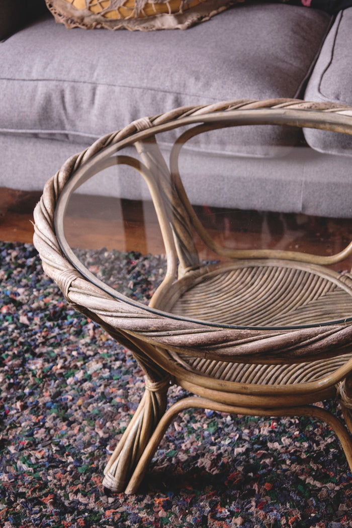 Rustic Wicker Coffee Table