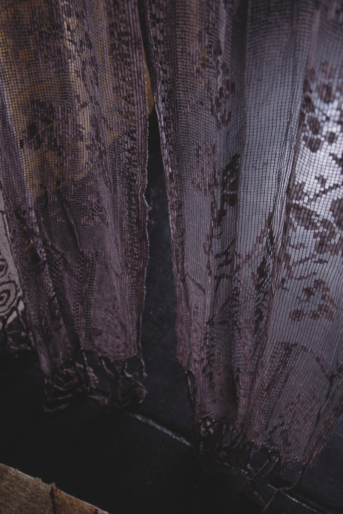 Pair of Grey Vintage Curtains