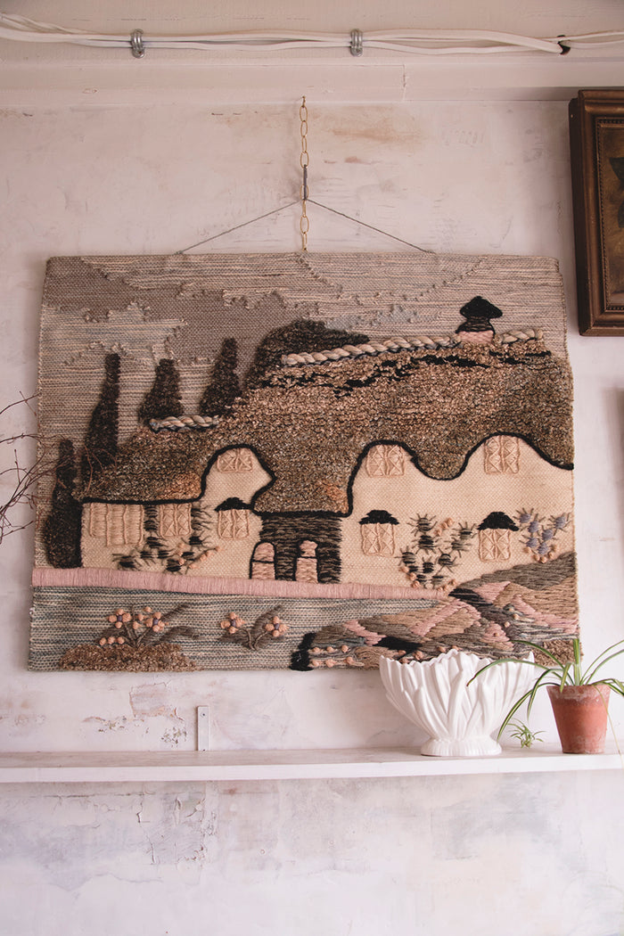 Vintage Folk art wall hanging