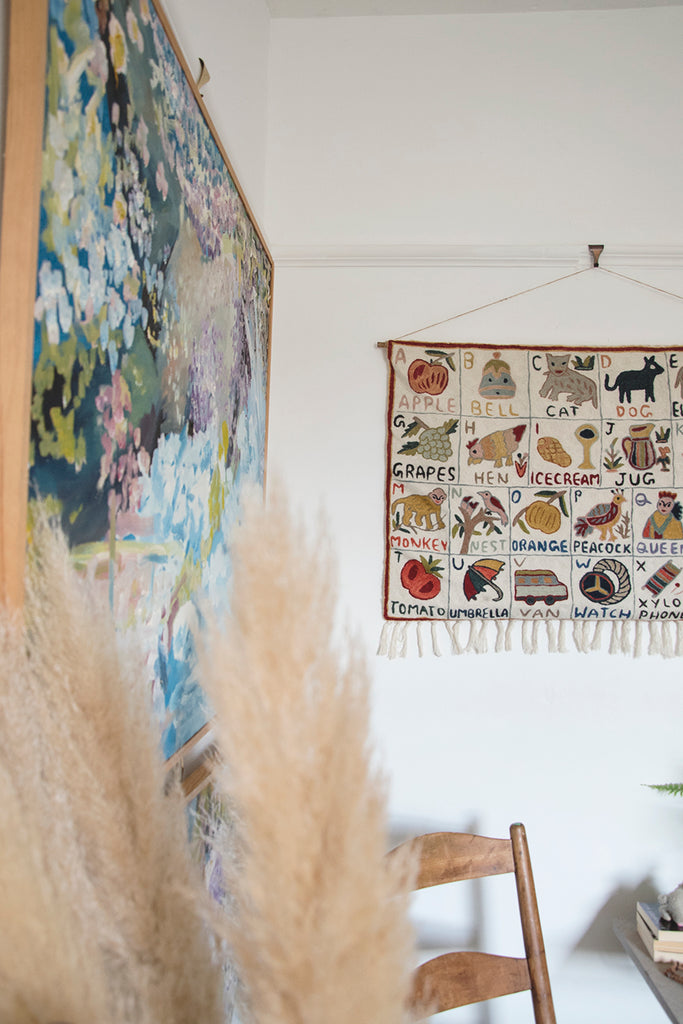 Tapestry Alphabet wall hanging