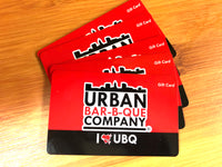 $25 Urban Bar-B-Que Gift Card