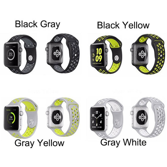 TDG Replacement Sports Silicone Watch Strap 42mm for Apple Watch 1 2 3 - YourDeal US