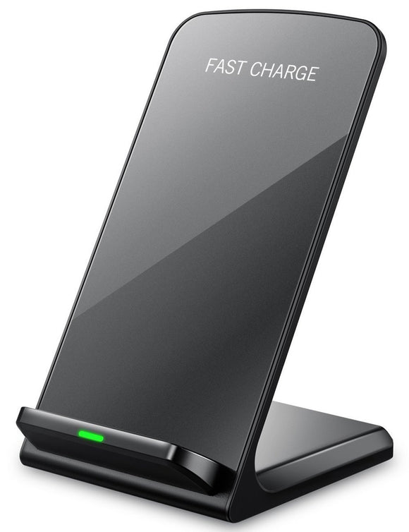 Qi Dual Coil Wireless Charger Desktop Stand for Apple & Samsung Smartphones - YourDeal US