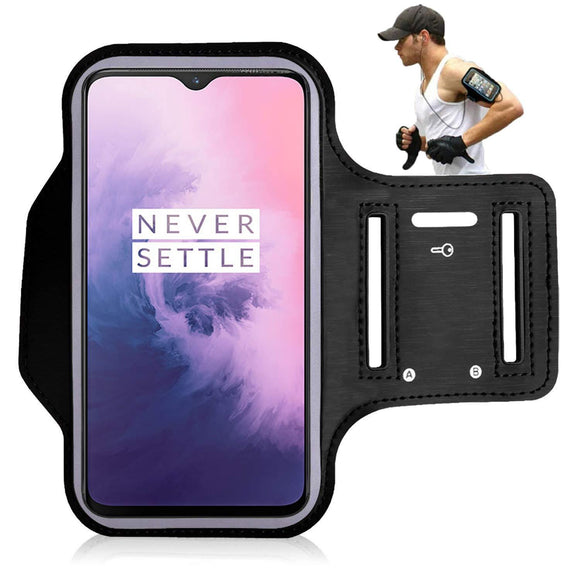 Sports Running Phone Arm Band Case for OnePlus 7 Black - YourDeal US