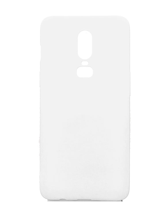 OnePlus 6 Silicone Protective Back Case White - YourDeal US