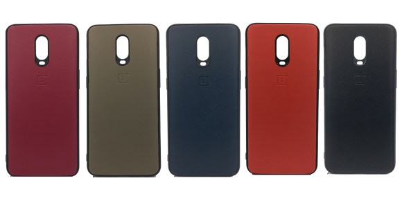 Oneplus 6T Leather Hard Back Soft Side Protective Case - YourDeal US