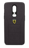 Oneplus 6 Leather Back Soft Silicone Ferrari Back Case Cover Brown - YourDeal US