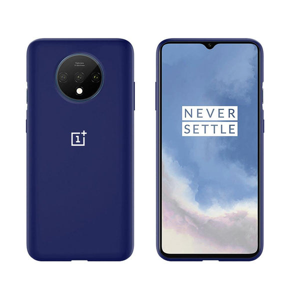 TDG Oneplus 7T Silicone Back Cover Protective Case Dark Blue - YourDeal US