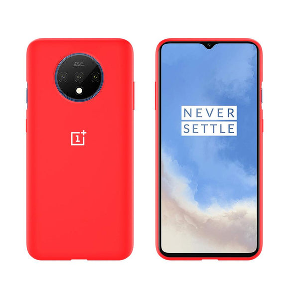 TDG Oneplus 7T Silicone Back Cover Protective Case Red - YourDeal US