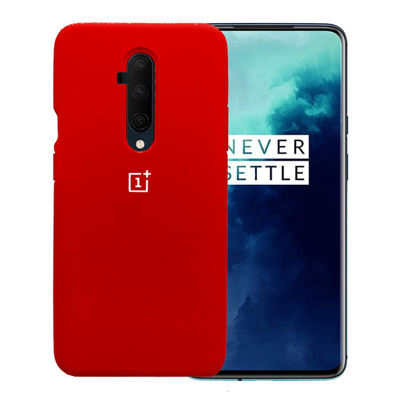 TDG Oneplus 7T Pro Back Cover Silicone Protective Case Red - YourDeal US