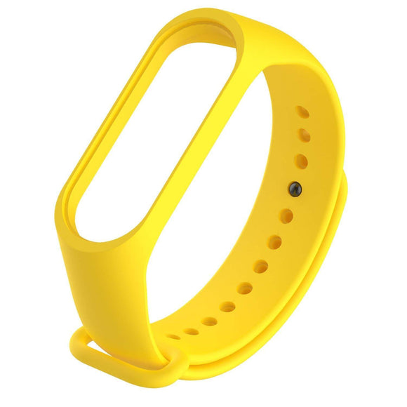 Mi Band 4 Fitness Smart Band Watch Straps Silicone Belt Yellow - YourDeal US