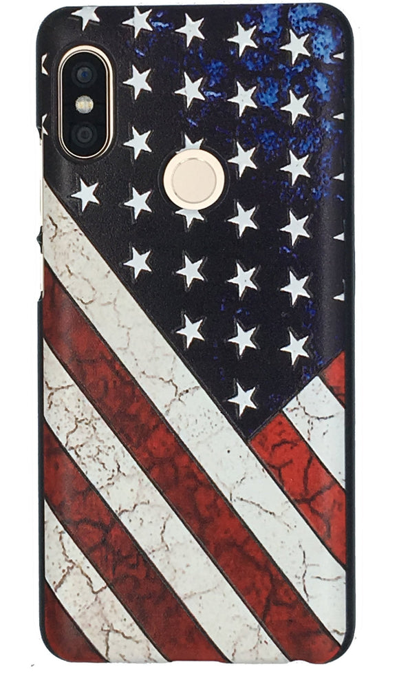Antique distressed American Flag Xiaomi Redmi Note 5 Pro Star & Stripes Back Cover Case - YourDeal US