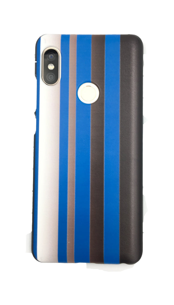 Blue Black White Vertical Stripes Xiaomi Redmi Note 5 Pro Mobile Back Cover Case - YourDeal US
