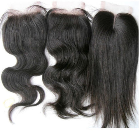 5 Piece Wholesale 100% Virgin Closure $350 - Bella Virgin Remy
