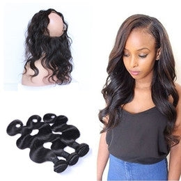 "3 BUNDLE DEAL WITH FREE 360 FRONTAL $295 8""-30"" 10A GRADE - Bella Virgin Remy"