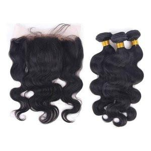 "3 BUNDLE DEAL WITH FREE FRONTAL $235 8""-30"" 9A GRADE - Bella Virgin Remy"