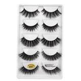 5 PAIRS 3D MINK NATURAL SOFT EYELASHES EXTENSION - Bella Virgin Remy