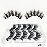 5 Pairs 2 Styles 3D Mink Soft Fluffy Wispy  Eyelashes Extension - Bella Virgin Remy