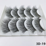 5 PAIRS 3D MINK NATURAL EYELASHES EXTENSION - Bella Virgin Remy