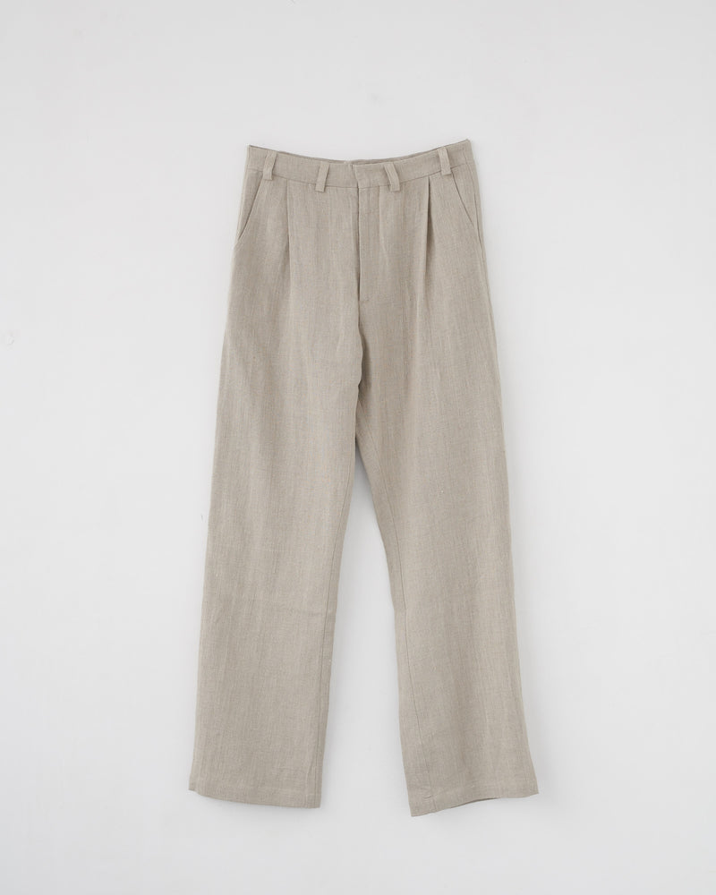 LINEN BOX TROUSERS