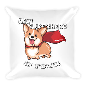Corgi Square Pillow
