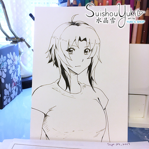 Haruka - Original Ink Illustration