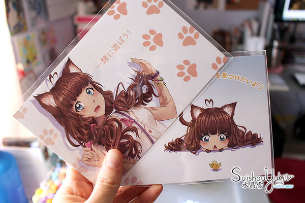 Cute Catgirl Postcard Set