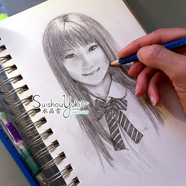 Riho - Original Pencil Illustration