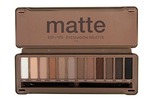 Bys 12 color Eyeshadow Palette, 1, Mate