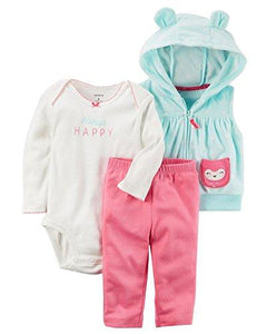 Carter's Baby Girls' Cardigan Owl Sets